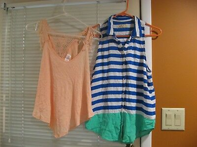 Women's Blouse Lot of 2 Summer Tops Small Hollister Nectar Clothing