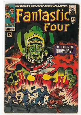 FANTASTIC FOUR #49 VG (4.0) - 1st Cover of GALACTUS and SILVER SURFER! Key Comic