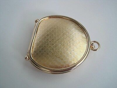 Vintage Neiman Marcus Gold Genuine Reptile Collapsible Coin Purse Made In Spain