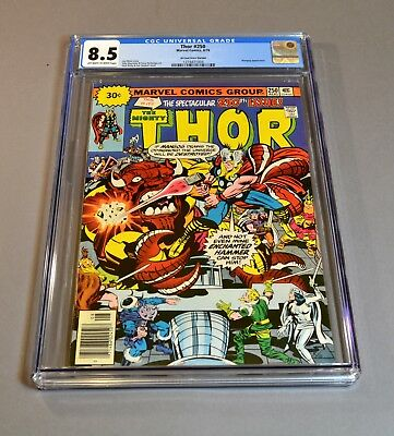 "The Mighty Thor # 250 ""30 cent variant"" CGC slabbed and graded 8.5! RARE!"