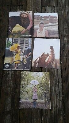 anthropologie catalogs lot of 5 2002, 2005, 2008, 2010