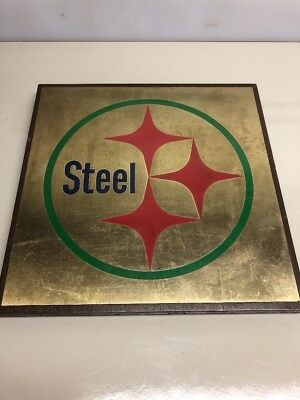 Vintage Pittsburgh Steel Mill  Advertising Brass Sign Plaque 12x12 Rare
