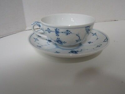 Kjobenhavn Blue And White Cup And Saucer Made In Denmark