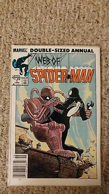 Web of Spider-Man Annual #1. NM-. 9.2. Black suited Spidey.