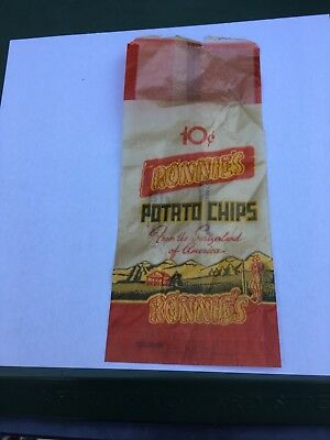 Vintage Ronnie's Potato Chip Bag East Mauch Chunk PA