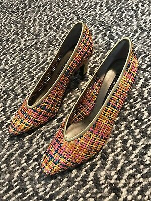 Prevata High Heel Shoes - Size 7B - Never Worn - Rainbow - Made In Italy