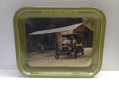 General Tires 1913 Ford Model T Touring Car Tin Advertising Serving Tray
