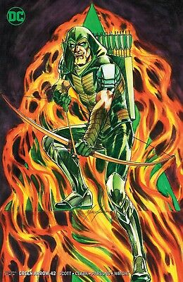 Green Arrow #42 Mike Grell Variant Cover Dc Comics (2018) Hot!