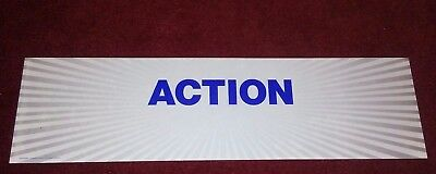 """Blockbuster Action Genre Rental Sign For Man Cave Movie Theatre Rare 24"""" x 6.5"""""""