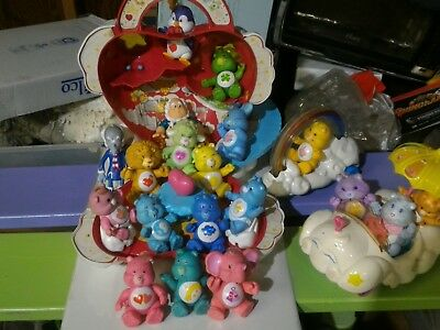 HUGE Care Bear Figure and Play Set Lot! MUST SEE!!