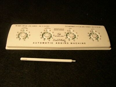 Sterling  Dial-A-Matic  Vintage Automatic  Adding Machine