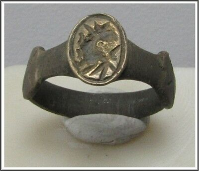 ** DRAGON **Ancient Bronze Legionary Roman Ring **AMAZING **
