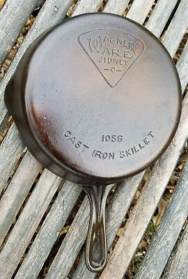 Rare #6 Wagner Ware Pie Logo Cast Iron Skillet Smooth Bottom Pan #1056