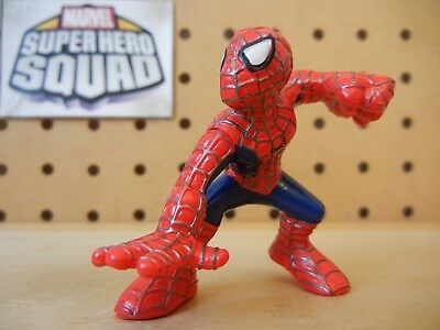 Marvel Super Hero Squad SPIDER-MAN Crouch w Fist Raised Movie Style Silver Lines
