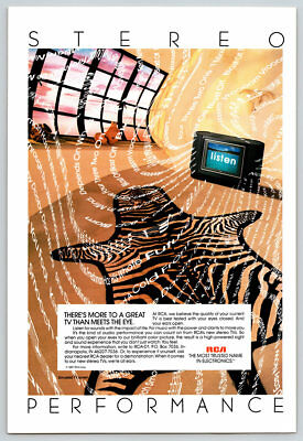 Vintage 1988 RCA TV Magazine Ad Stereo Performance Sounds Color Television