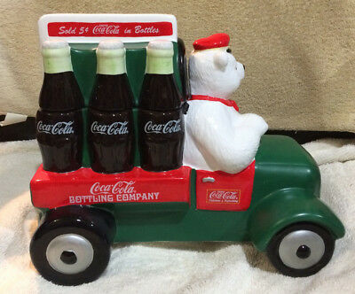 "Ocl - Coca Cola - 1999 - ""delivering Refreshment"" Limited Edition Cookie Jar"