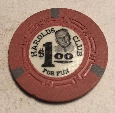 Harolds Club $1 Casino Chip Reno Nevada 2.99 Shipping