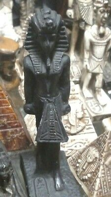 Egyptian Statue, King Tutankhamen, Hand Carved Natural Basalt Stone, 140mm