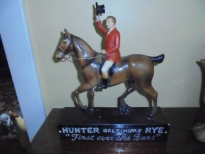 "1920s/1930s Hunter Baltimore Rye  - Back Bar Plaster Display - 15"" -RARE"