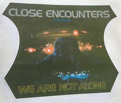 Vintage 70s Original Close Encounters Of The Third Kind Iron On Transfer