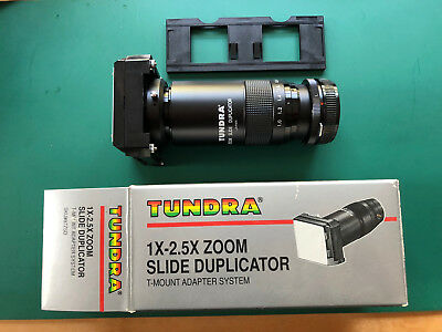 TUNDRA zoom slide duplicator 1x-2.5x T mount adapter system