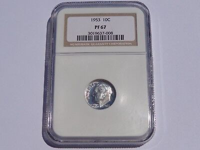 1953 Roosevelt Dime Ngc Pf-67 No Reserve! Super Nice! Must See!!