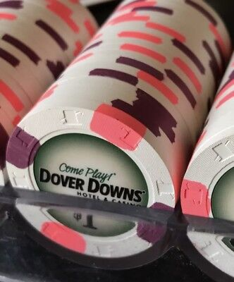 20 Paulson Poker Chips from Dover Downs Hotel and Casino In Delaware