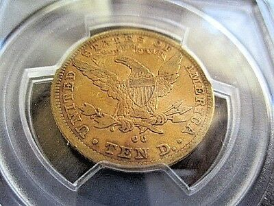 Rare 1892 $10 Cc Carson City Gold Eagle Pcgs Certified Vf25!!! Tougher Date!!!