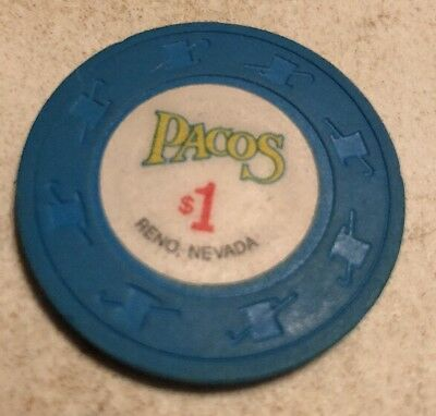 Pacos $1 Casino Chip Reno Nevada 2.99 Shipping