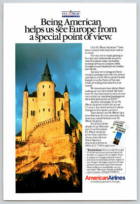 Vintage 1988 American Airlines Magazine Ad Europe Something Special In The Air