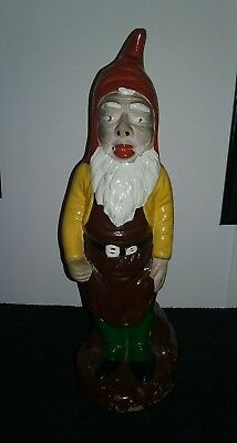 Vintage Painted Gnome 13.5""