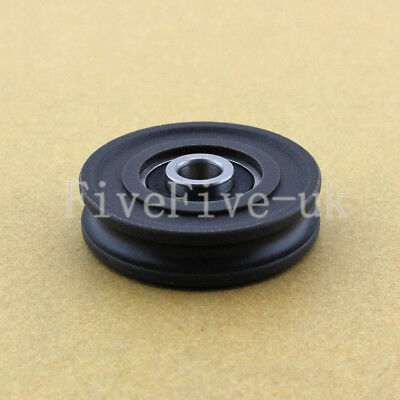 U Nylon plastic Embedded 608 Groove Ball Bearings 8*45*11.5mm Guide Pulley