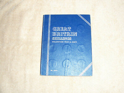 Whitman Folder Great Britain Shillings 1953 to date with 28 coins