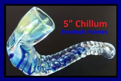 """5"""" Glass Chillum Bowl One Hitter Pipe Glass Hand Pipes"""
