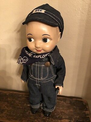 Orig. Buddy Lee Railroad Engineer Doll Advertising Lee Jeans Composition 12""