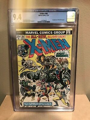 X-Men #96 Cgc 9.4. 1St Moira Mactaggert Appearance. White Pages. Marvel 1975