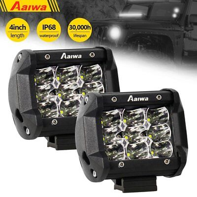 """4"""" 120W LED Pods Cube Work Light Driving Spot Beam Off road Truck 4X4 4WD SUV"""