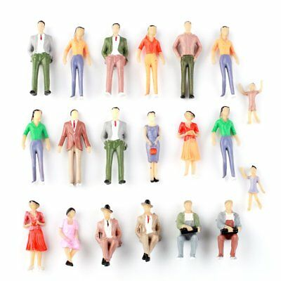 20Pcs G Scale Painted Passenger People Figures Train Diorama Scenery 1:30 Model
