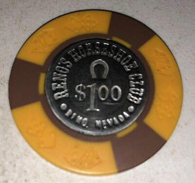 Reno's Horseshoe Club $1 Casino Chip Reno Nevada 2.99 Shipping