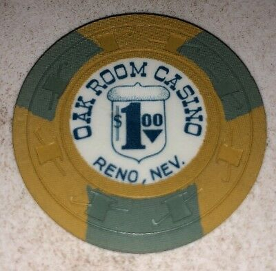 Oak Room Casino $1 Casino Chip Reno Nevada 2.99 Shipping