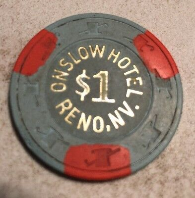 Onslow Hotel $1 Casino Chip Reno Nevada 2.99 Shipping