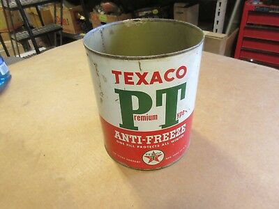vintage TEXACO  PT  ANTI - FREEZE can 1 GALLON not oil can