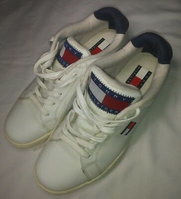 8900d65b17d5c Vtg Tommy Hilfiger Shoes Mens Sz 9 Big Flag Logo Spell Out 90s Red White  Blue