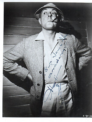 French Comedian ,director Jacques Tati ,vintage Signed Studio Photo With Drawing