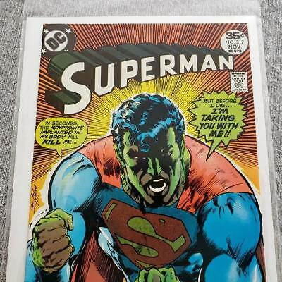 * SUPERMAN 317 (NM+ 9.6) Neal Adams cover ORIGINAL Owner Collection *
