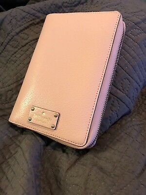 Kate Spade day planner Wellesley Blush Pink cobbled soft leather