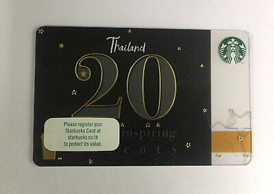 2nd Starbucks Card 20th Thailand 2018