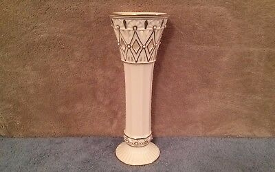 LENOX Porcelain Florentine and Pearl Vase For Flowers- Home Decor