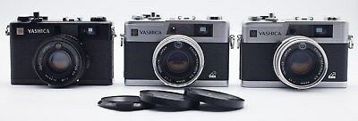 2 Yashica Electro 35 Gx 1 Electro 35 Cc Rangefinder Cameras For Parts Or Repair