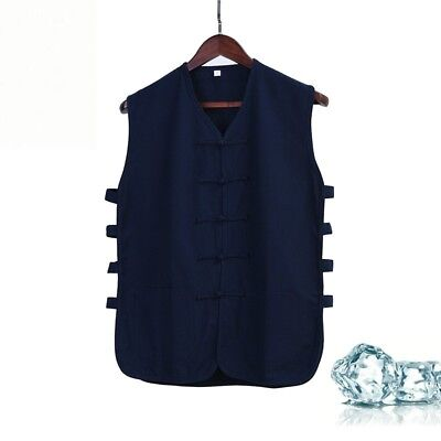 dd1438fbce Men Traditional Chinese Tang Suit Coat Kung Fu Tai Chi Uniform Jacket Linen  New.